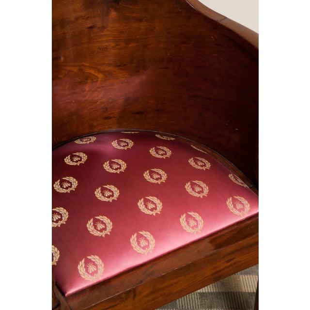 Empire mahogany desk chair or fauteuil de bureau. Perfect for an office room.