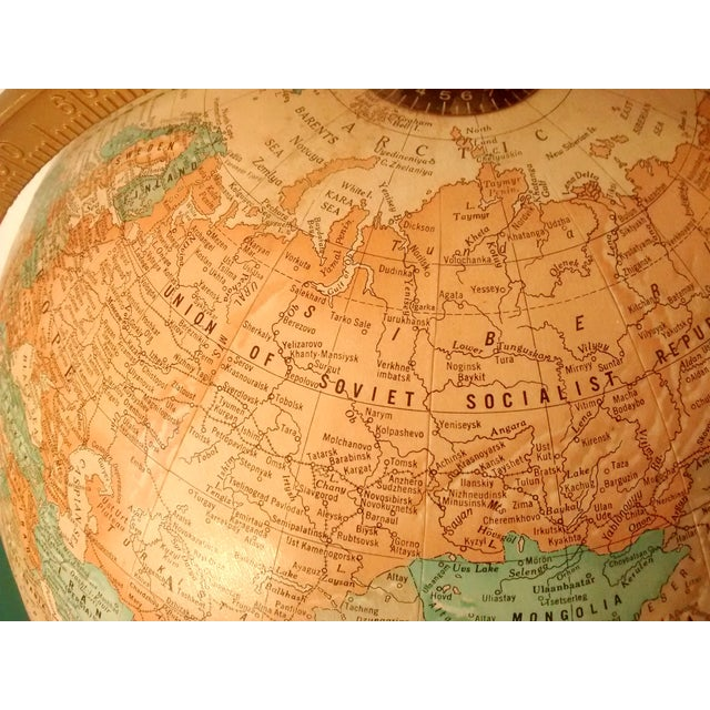 MCM Crams Imperial World Globe on Wooden Stand - Image 7 of 10