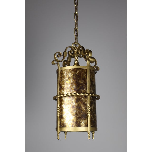 Brass Spanish Colonial Mica Cylinder For Sale - Image 7 of 8