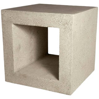 Cast Resin 'Ray' Side Table in Natural Stone Finish by Zachary A. Design For Sale