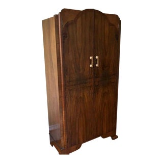 Vintage Deco Wardrobe Armoire For Sale