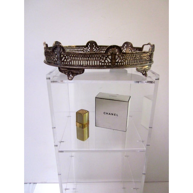 Ornate Silver Perfume Vanity Serving Tray - Image 6 of 8