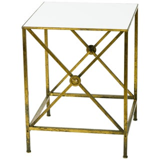 1950s Directoire Brass Side Table For Sale