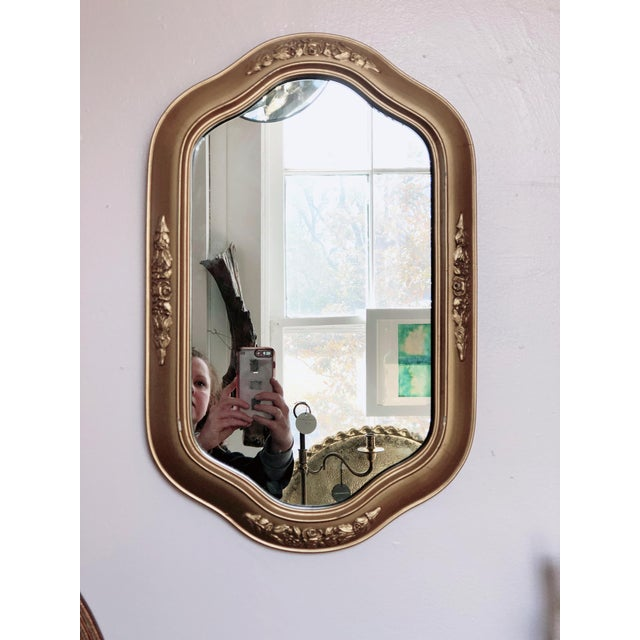 Petit Golden Wall Mirror For Sale - Image 4 of 4
