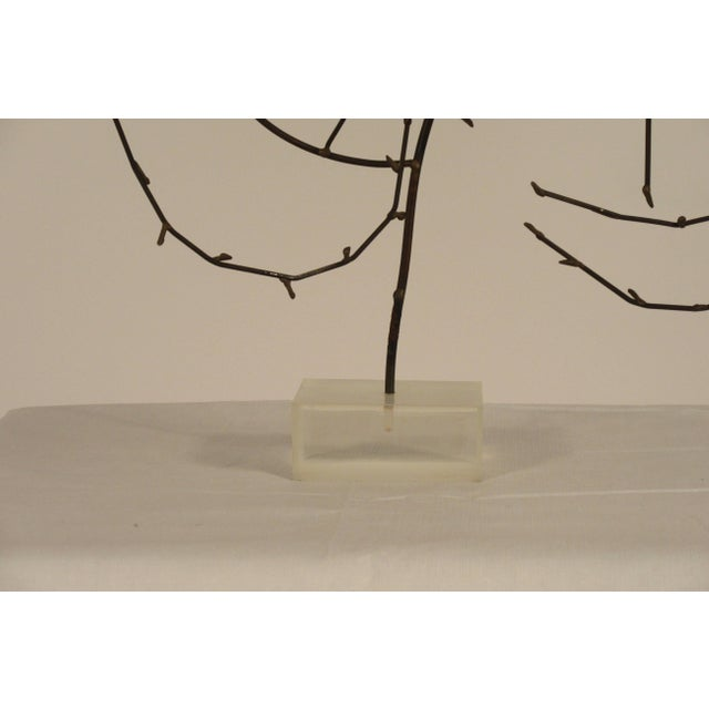Plastic 1970s Free-Form Abstract Sculpture on Lucite Base For Sale - Image 7 of 10