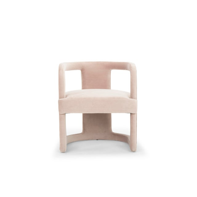 Rory Side Chair in Rosa Pink For Sale In Philadelphia - Image 6 of 6
