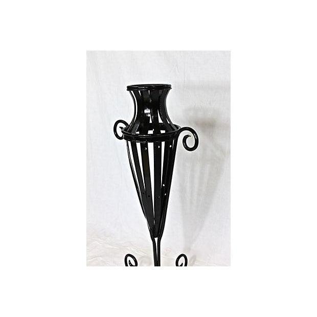 Wrought Iron Garden Urn - Image 5 of 7