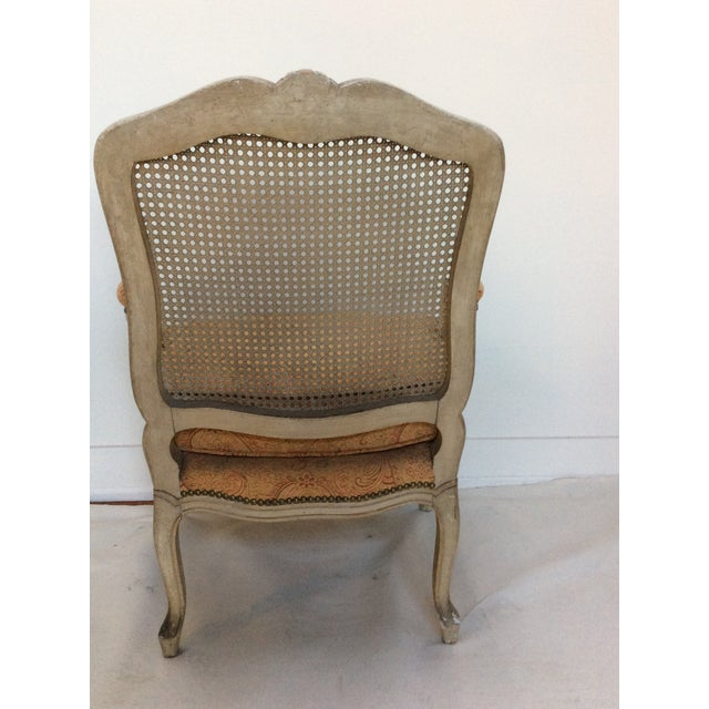 French Style Armchair With Caned Back For Sale In San Antonio - Image 6 of 6