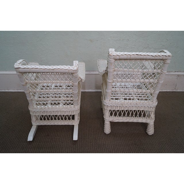 Victorian Child's Wicker Patio Set - Image 7 of 10