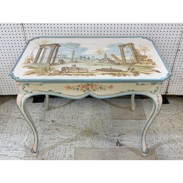 Italian Venetian Painted Table or Desk For Sale - Image 3 of 11