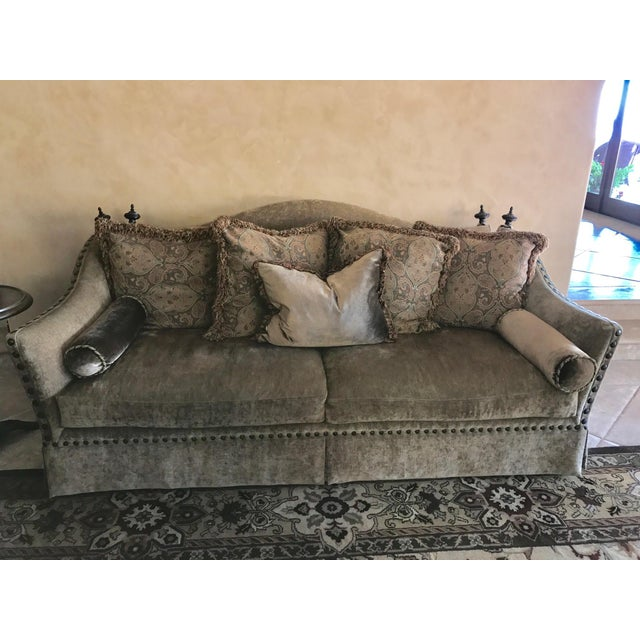 This sofa is luxurious and elegant, but I also dare you to find anything that is more comfortable. It is in the style of...
