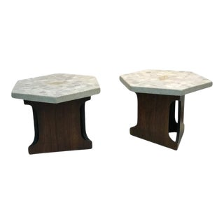 Pair of Harvey Probber Terrazzo End Tables For Sale
