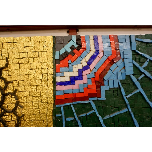 Early 21st Century Abstract Figurative Century Glass Mosaic Collage by Beltrame Massimiliano, Framed For Sale In Palm Springs - Image 6 of 9