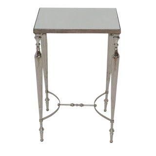Cakra Mirror Top Aluminum Square Side Table for Living Room