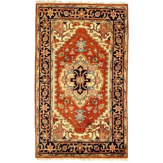 Traditional Pasargad N Y Serapi Design Hand-Knotted Rug - 3' X 5'