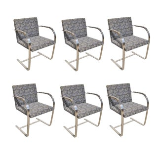 Midcentury Flat Bar Mies Van Der Rohe Brno Chair for Knoll For Sale