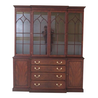 Henkel Harris Mahogany Breakfront For Sale