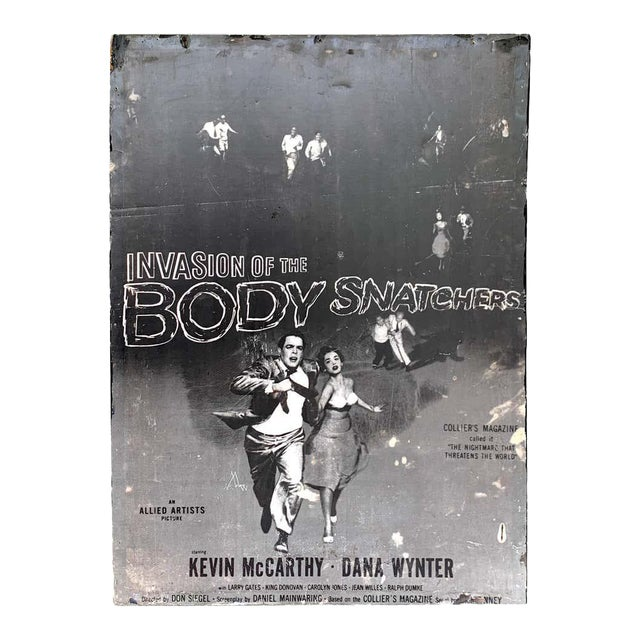 Invasion of the Body Snatchers, Black & White Movie Theatre Poster, 1956 For Sale