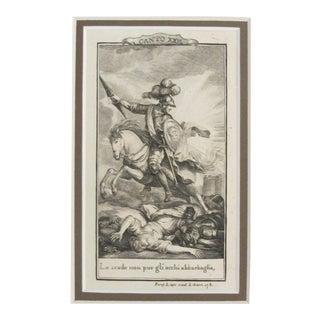 1781 Italian Engraving, Divine Comedy (Dante Alighieri) Canto 22 For Sale