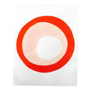 "Neicy Frey ""Dot No. 17, Pink Tomato"" Original Painting on Paper"