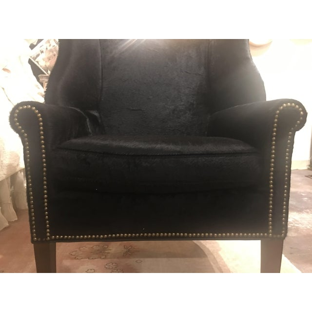 Serengeti Black Leather Hyde Chair For Sale In Denver - Image 6 of 11