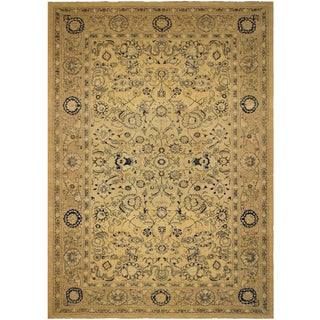 Kafkaz Sun-Faded Jerrie Lt. Brown/Tan Hand-Knotted Rug - 12'3 X 17'10