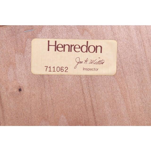Brown Henredon Oak Beveled Mirror For Sale - Image 8 of 9