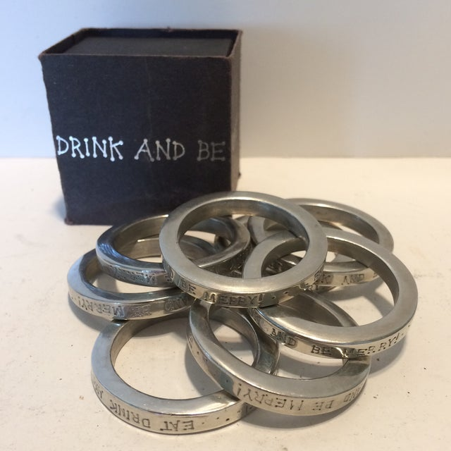 Get ready to liven up your next dinner party with this set of 8 vintage pewter Napkin Rings. Your guests will enjoy the...