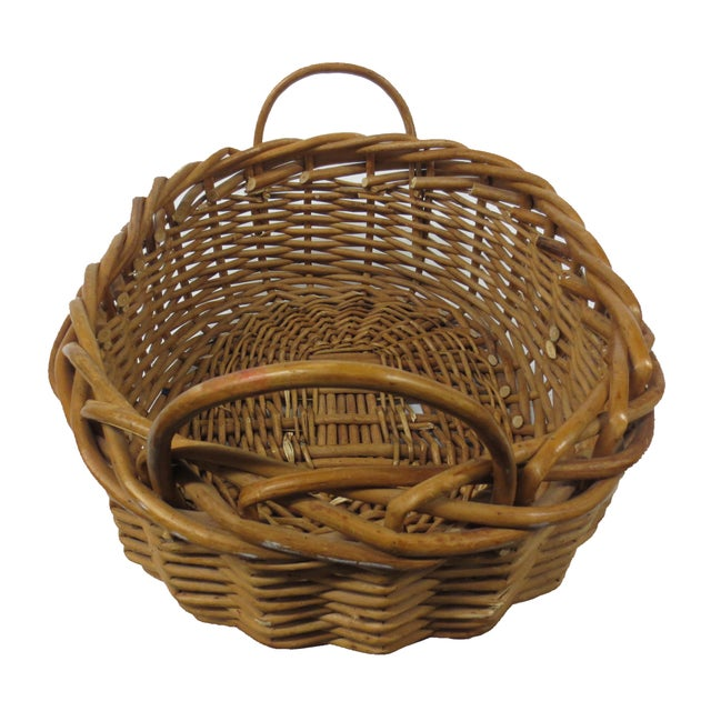 Giant Oversize Braided Willow Basket - Image 4 of 9