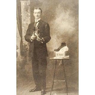 Dapper Shoe Salesman Occupational Antique Photograph For Sale