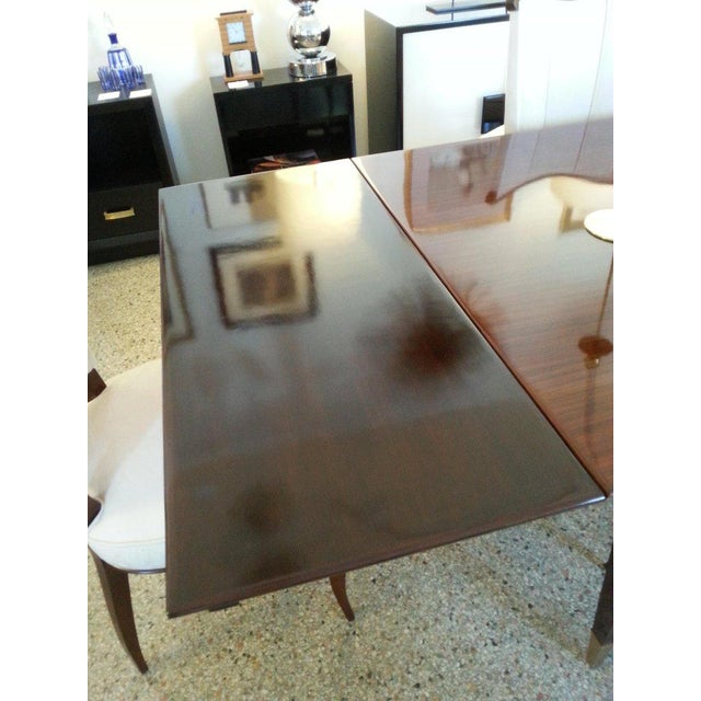 Mid-Century Modern Dining Room Table Lacquered Extension Leaves For Sale - Image 11 of 12