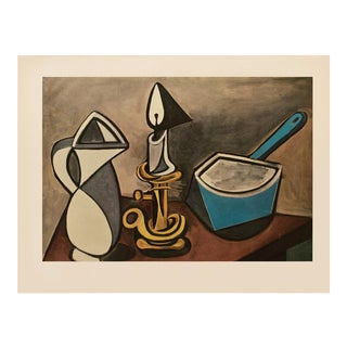 """1954 Pablo Picasso """"Still Life With a Candle"""", Large Period First Limited Edition Lithograph For Sale"""