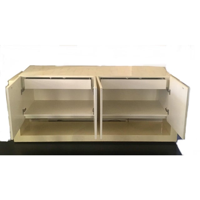 Karl Springer Style Faux Bone Floating Credenza - Image 6 of 11
