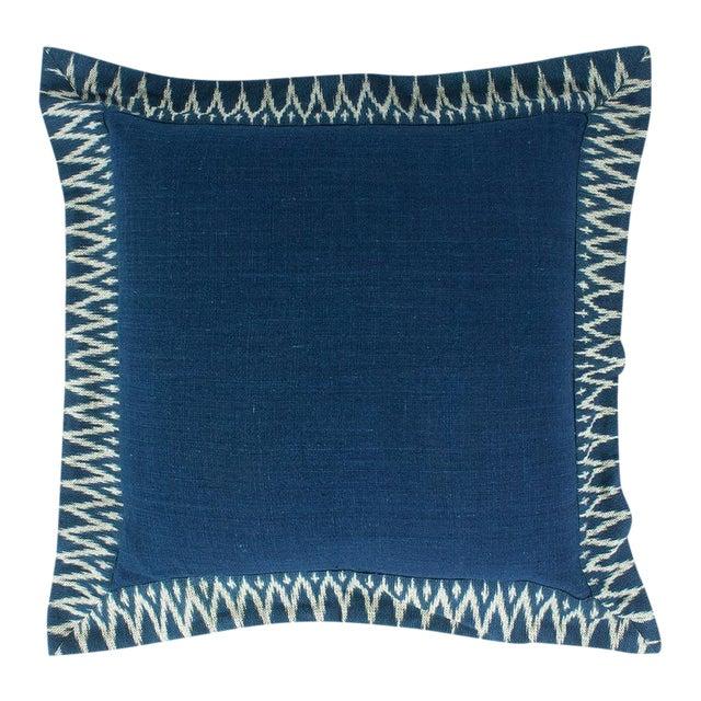 Indigo Ikat Pillow - Image 1 of 4