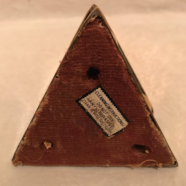 Mid 20th Century Hammered Copper & Brass Pyramidal Obelisk For Sale - Image 5 of 5