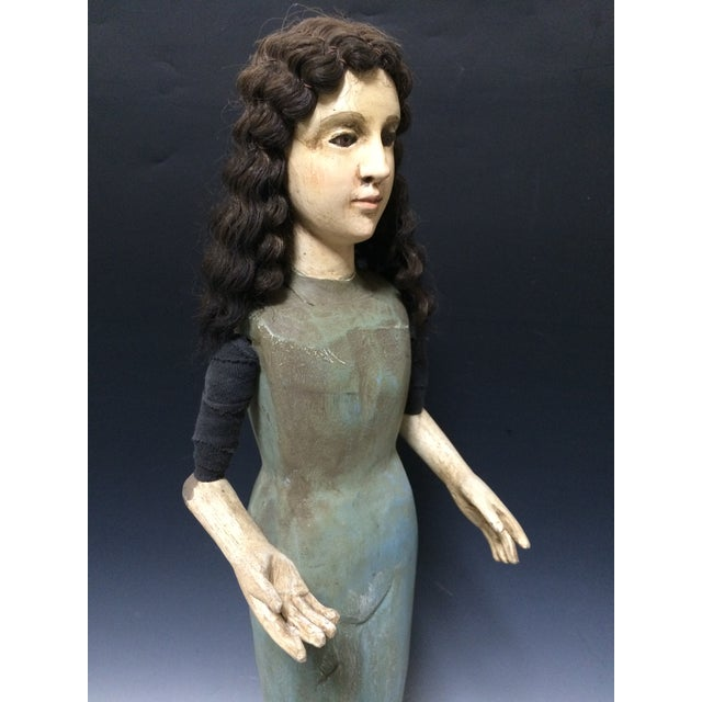 Handcarved Wood Articulated Female Mannequin For Sale - Image 4 of 11