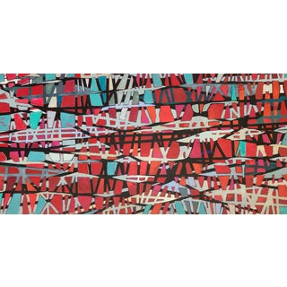 Original Abstract Painting Mid-Century Style For Sale