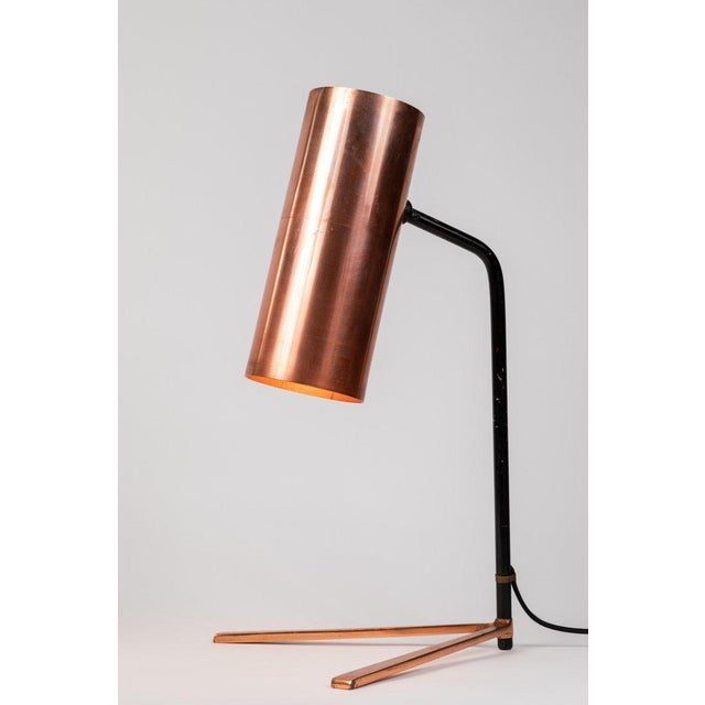 1950s Stilux Copper and Metal Table Lamp For Sale - Image 10 of 13