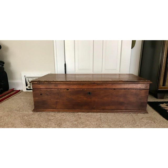 19th Century Americana Wood Trunk-Chest with Handle For Sale - Image 10 of 10