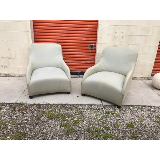 1980s 1980s Contemporary Donghia Style Club Chairs - a Pair For Sale - Image 5 of 5