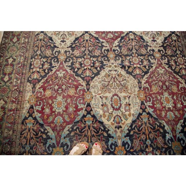 """Unusual Antique Lavar Kerman Carpet - 8'6"""" X 11'10"""" For Sale - Image 10 of 10"""