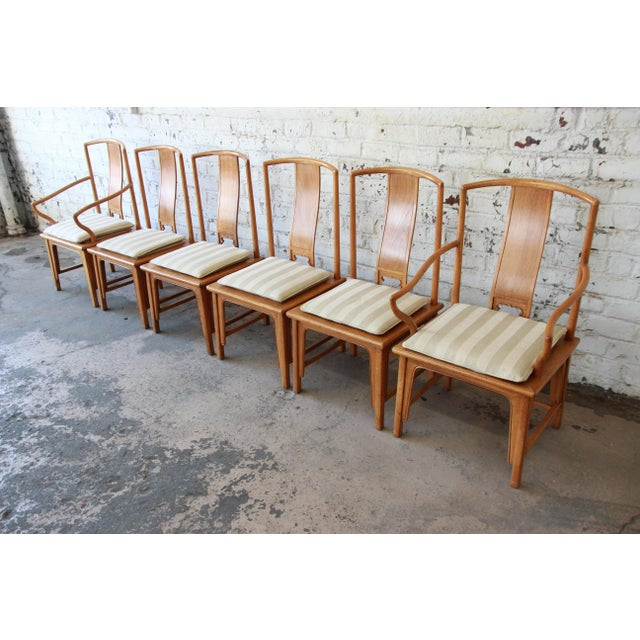 Asian Baker Furniture Chinoiserie Ming Dining Chairs - Set of 6 For Sale - Image 3 of 15
