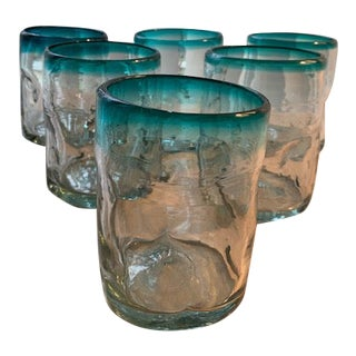 Vintage Mexican Glasses - Set of 6 For Sale