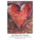 """Image of Jim Dine the Minnesota Watercolor 34"""" X 23.25"""" Poster 1985 Pop Art Multicolor, Red For Sale"""