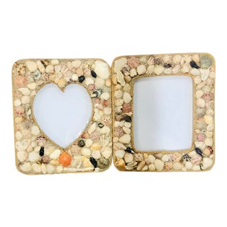 Vintage Grotto Style Handmade Sea Shell and Nautical Rope Frames - a Pair For Sale