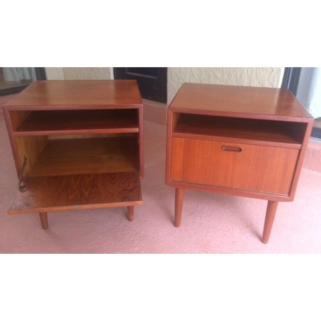 Mid-Century Teak Nightstands by Falster - Image 3 of 10