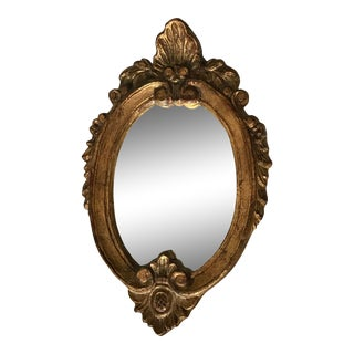 Vintage Baroque Gilt Mirror For Sale