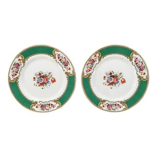 Made in England-Early 20th Century Myotts Royal Crown Staffordshire China Plates - a Pair For Sale
