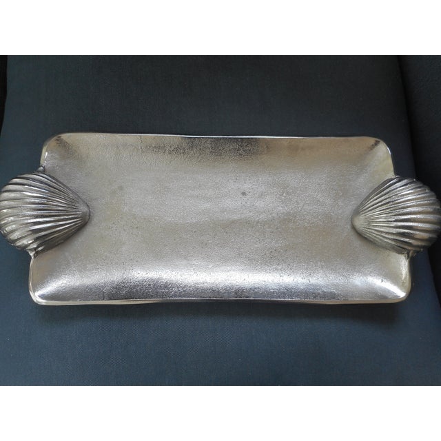 Silver Metal Shell Tray - Image 2 of 4