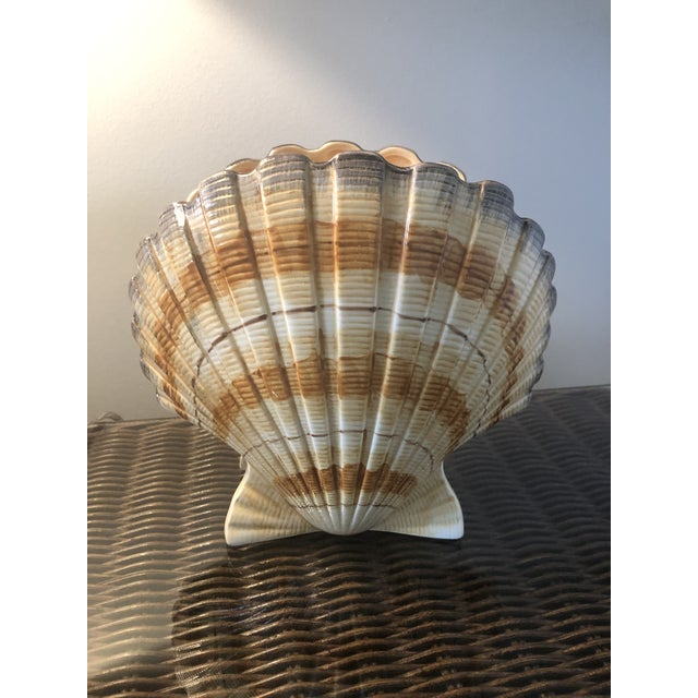 Vintage Fitz and Floyd Shell Vase For Sale - Image 11 of 11